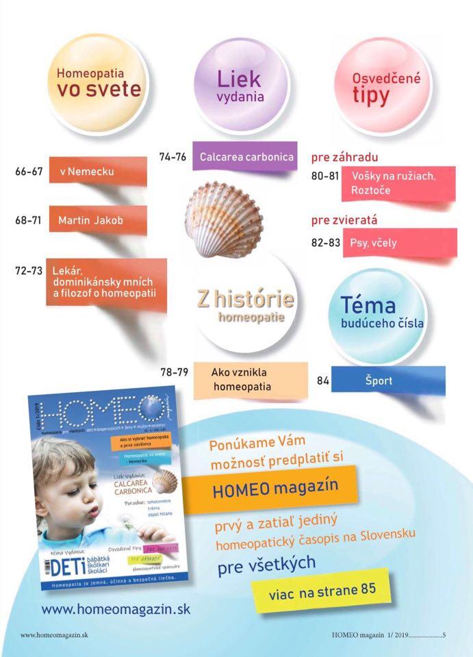 Obsah Homeo magazín 2